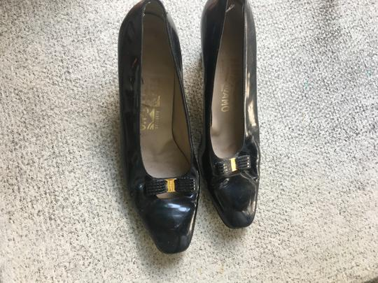 Salvatore Ferragamo Dark navy blue Pumps Image 11