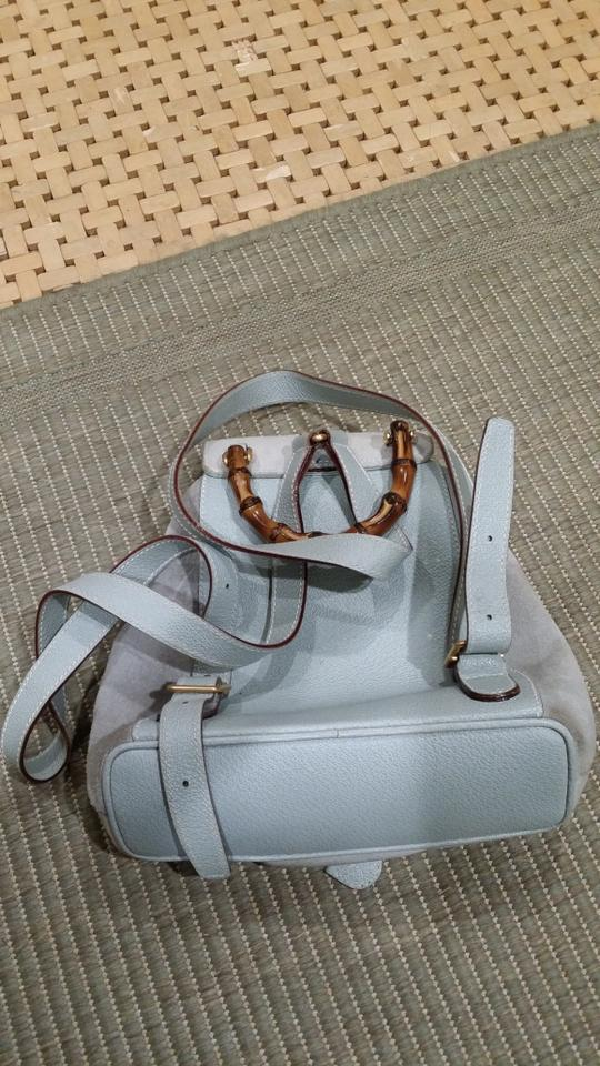 0b36e27b4f0 Gucci Light Blue Suede Loafers   Backpack In Baby Flats Size US 4.5 ...