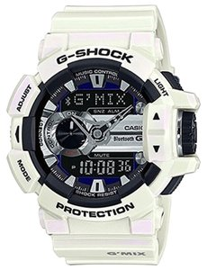 Baby-G Casio Baby-G GBA400-7CCR Music Series White Analog-Digital Watch