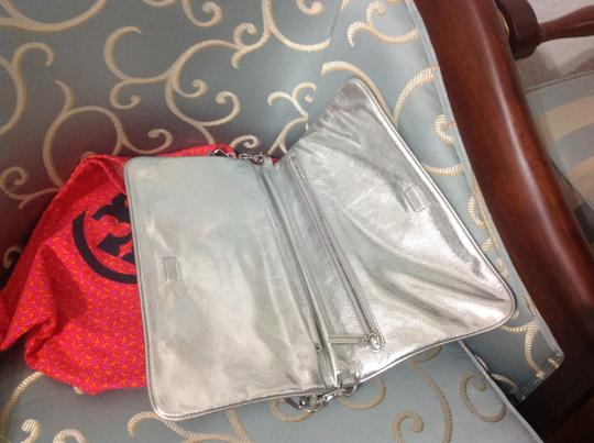 Tory Burch Silver Clutch Image 2