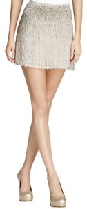 Alice + Olivia Mini Skirt Silver Nude