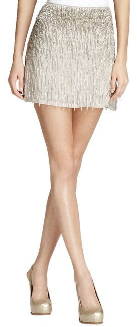 Item - Silver Nude Anna Beaded Fringe Skirt Size 2 (XS, 26)