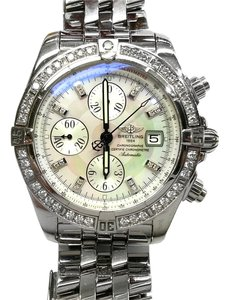 Breitling BREITLING A13356 Chronographe Automatic Watch With Diamonds on Bezel and Dial
