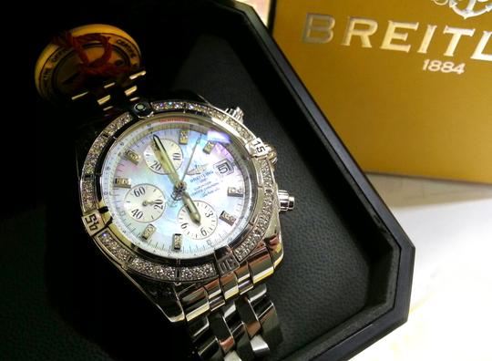 Breitling BREITLING A13356 Chronographe Automatic Watch With Diamonds on Bezel and Dial Image 1