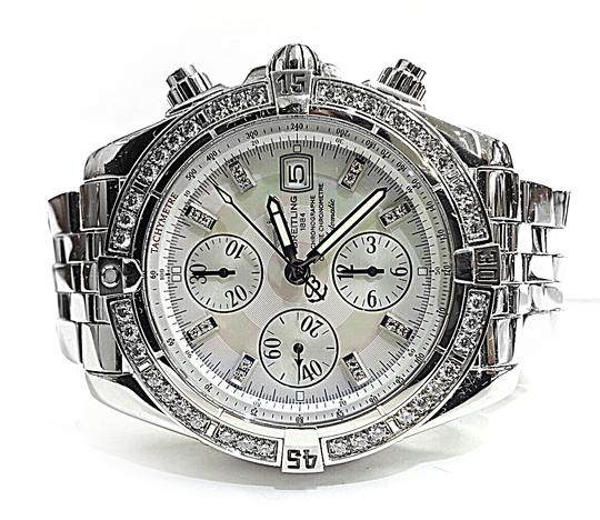 Breitling BREITLING A13356 Chronographe Automatic Watch With Diamonds on Bezel and Dial Image 2