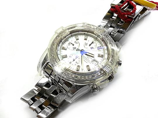 Breitling BREITLING A13356 Chronographe Automatic Watch With Diamonds on Bezel and Dial Image 3