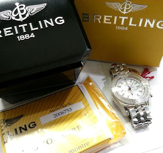 Breitling BREITLING A13356 Chronographe Automatic Watch With Diamonds on Bezel and Dial Image 8