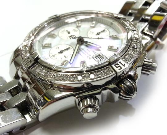Breitling BREITLING A13356 Chronographe Automatic Watch With Diamonds on Bezel and Dial Image 9