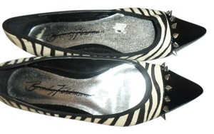 Beverly Feldman Black White Zebra Flats
