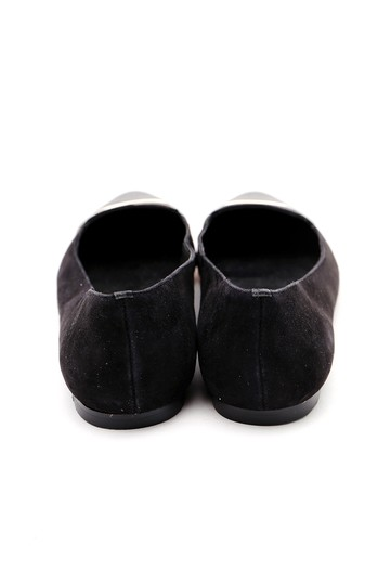 Calvin Klein Pointed Toe Suede Leather Black Flats Image 2