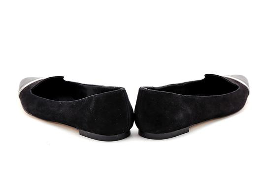 Calvin Klein Pointed Toe Suede Leather Black Flats Image 4