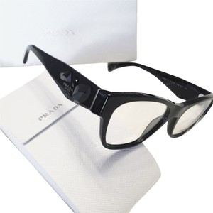 Prada Prada VPR 07R Black Jeweled Eyeglass Frames
