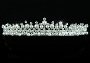 Stunning Faux Pearl & Austrian Crystal Wedding Bridal Tiara Headband