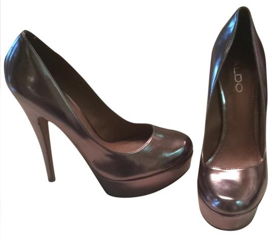 ALDO Grey/ Chrome Pumps