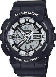 G-Shock Casio Baby G GA110BW-1ACR Men's Black Analog-Digital Watch