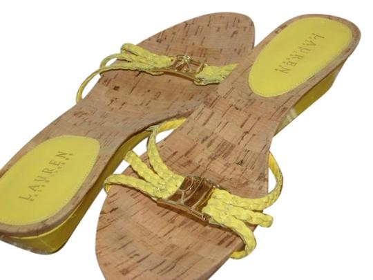 Lauren Ralph Lauren 8m Yellow Sandals