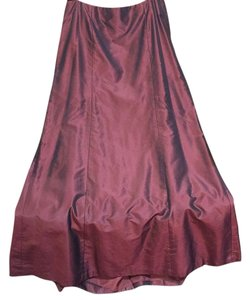 Badgley Mischka Maxi Skirt Deep purple/maroon