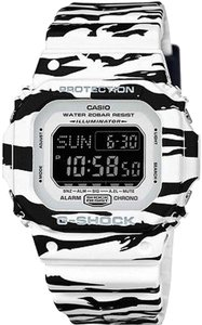 Baby-G Casio Baby G DWD5600BW-7CR Men's Tiger Stripped Digital Watch