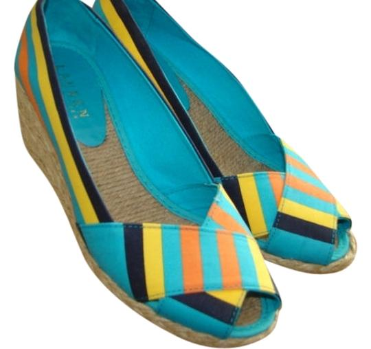 Lauren Ralph Lauren 7.5b Color Multi Wedges