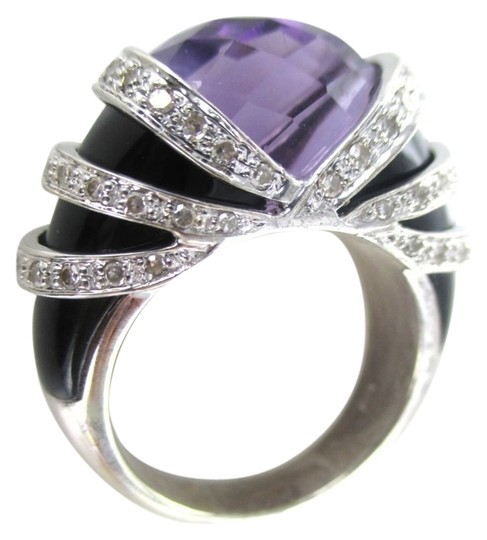 Preload https://img-static.tradesy.com/item/1162189/gold-14k-solid-white-cocktail-with-64-diamonds-onyx-and-big-amethyst-ring-0-0-540-540.jpg