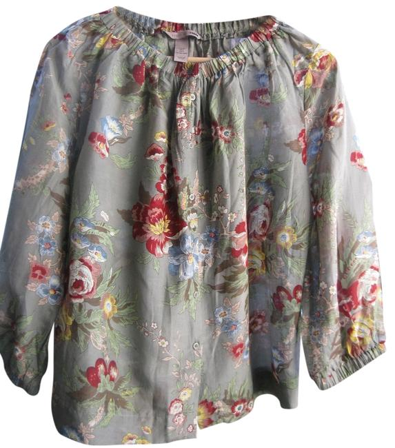 Preload https://img-static.tradesy.com/item/1162190/h-and-m-taupe-floral-print-blouse-size-4-s-0-0-650-650.jpg