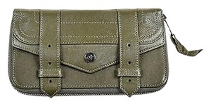 Proenza Schouler Proenza Schouler Olive Green Leather Zip Wallet