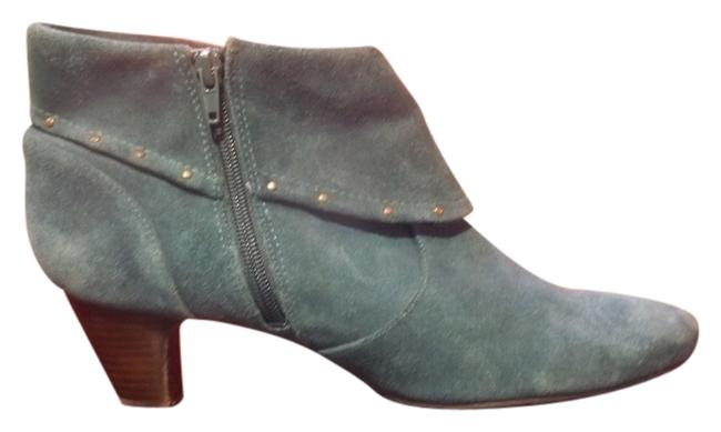 Item - Blue Suede Studded Boots/Booties Size US 11 Regular (M, B)