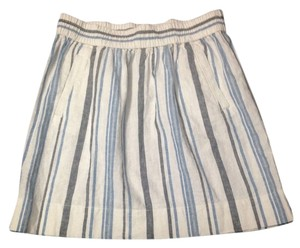 Ann Taylor LOFT Skirt White,grey and blue