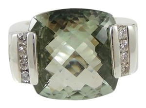 David Yurman David Yurman Sterling Silver .24tcw Prasiolite Diamond Ring