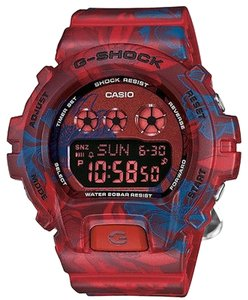 G-Shock G-Shock GMDS6900F-4CR Men's Red-Blue Floral Digital Watch With Black Dial