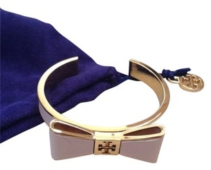 Tory Burch Tory Burch Pink Buff Bow Cuff Bracelet