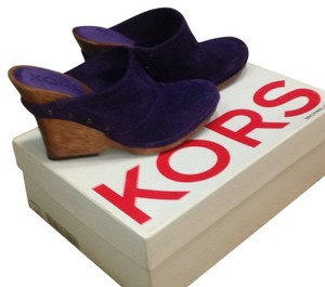 Michael Kors Purple Wedges
