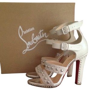 Christian Louboutin Red Bottom Beige Studded Sandals