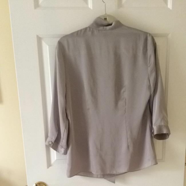 Banana Republic Top Silver Gray