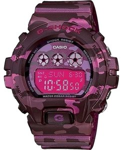 Casio Casio GMAS110F-1ACR Women's Pink Camouflage Digital Watch With Pink Dial