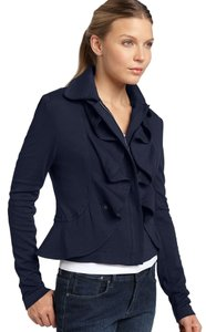 Filtre Ruffle Zippered Trench Black Jacket