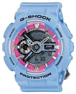 G-Shock Casio GMAS110F-2ACR Men's Blue Analog/Digital Watch With Grey Dial