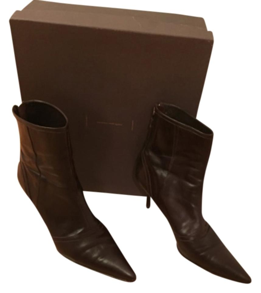 Narciso Ankle Rodriguez Brown Wine Leather Ankle Narciso Boots/Booties 2e7cb7