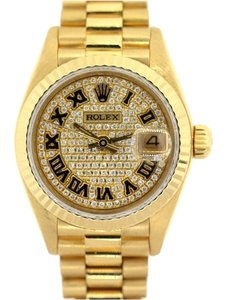Rolex Ladies Presidential Diamond Watch with 18K Gold
