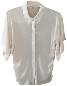 bebe Button Down Shirt Ivory