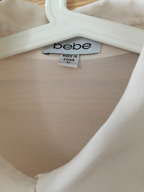 bebe Button Down Shirt Ivory Image 10