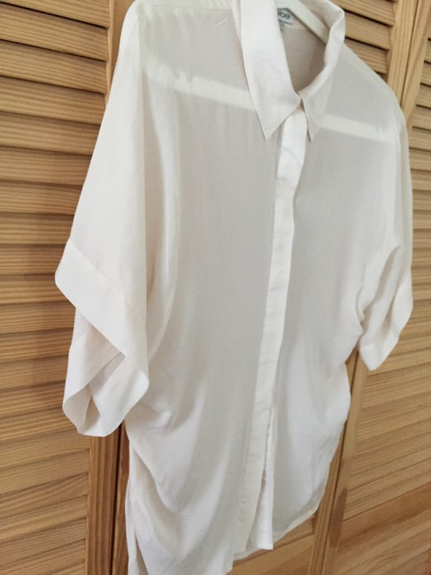 bebe Button Down Shirt Ivory Image 2