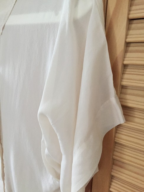 bebe Button Down Shirt Ivory Image 6