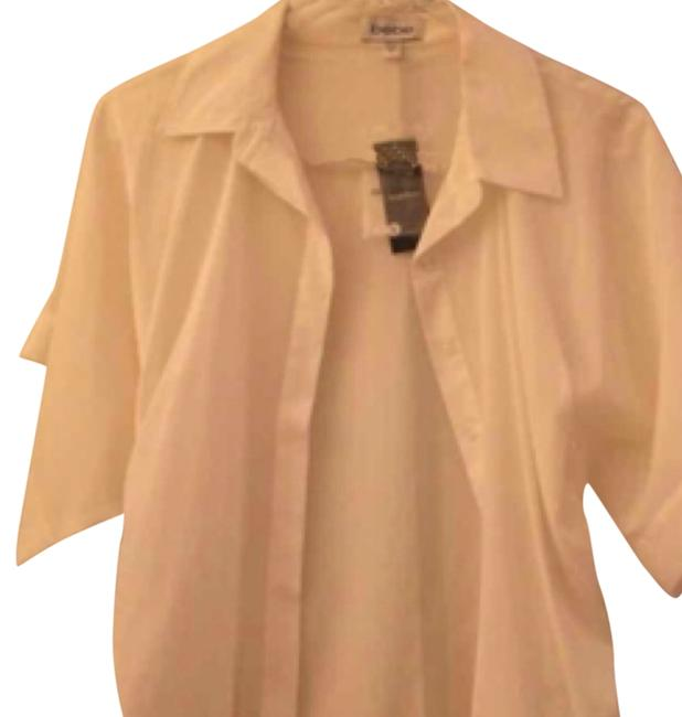 bebe Button Down Shirt Ivory Image 7