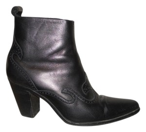 Guess Western Leather Ankle black Boots