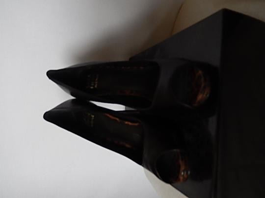Saks Fifth Avenue Womens Leather Face black Pumps Image 6