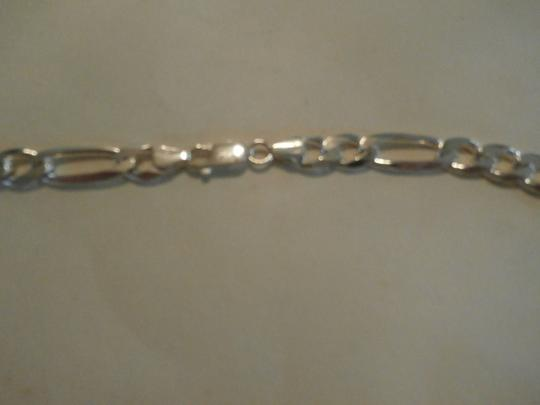 Other NEW UNISEX Sterling Silver Figaro Chain 22' 56 GRAMS Image 2