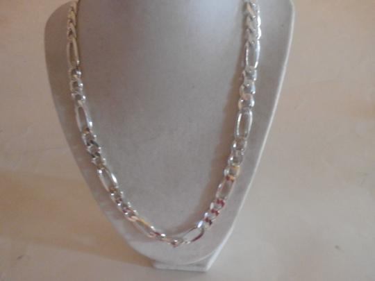 Other NEW UNISEX Sterling Silver Figaro Chain 22' 56 GRAMS Image 3