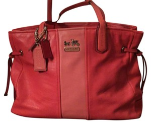 Coach Tote in Salmon/peach