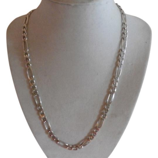Preload https://img-static.tradesy.com/item/11624608/silver-new-unisex-sterling-figaro-chain-20-345-grams-necklace-0-1-540-540.jpg